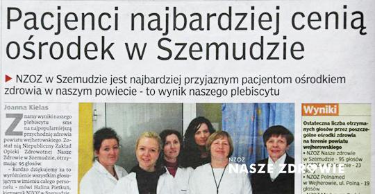 NZOZ Nasze Zdrowie wyróżniony w plebiscycie!